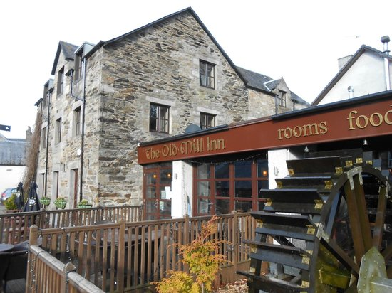 The Old Mill Inn:                   Exterior View Including The Mill Wheel