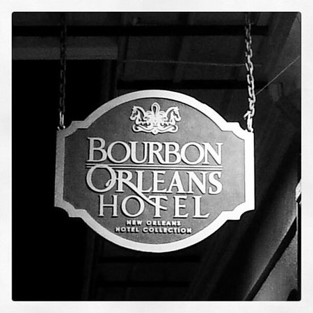 Bourbon Orleans Hotel:                   At the entrance