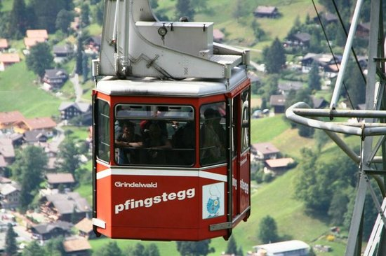 Grindelwald, Sveits: cable car