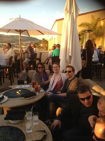 180blũ at The Ritz-Carlton:                                                       Tara,Kali and Matt at sunset loving the Ri