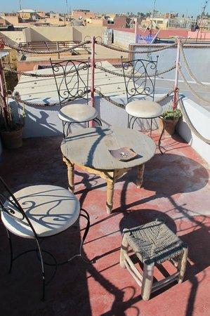 Riad ABHAR : roof terrace