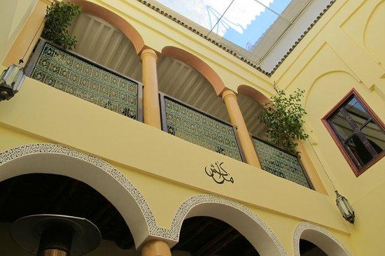 Riad ABHAR : view from courtyard