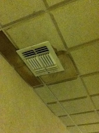 Hotel Preet Grand Conference Center :                   A/C WITH MOLD & WATER DAMAGE OUTSIDE ROOM IN HALL