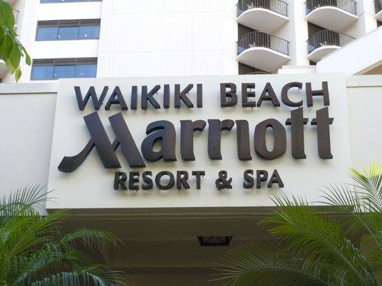 Waikiki Beach Marriott Resort & Spa:                   front of hotel