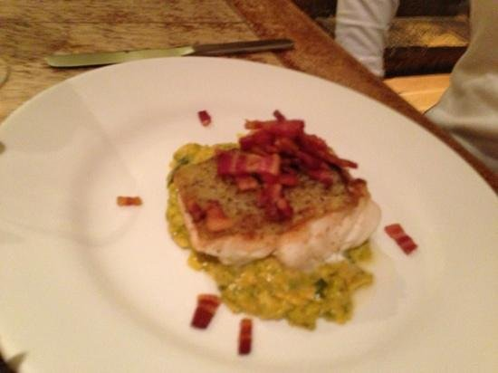 Horse and Groom:                   Cod with Curried Leeks