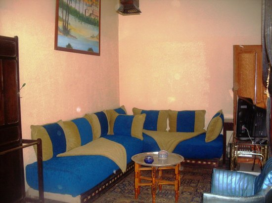 Dar Lalla Bouchra : Coin Salon de Suite Bleue