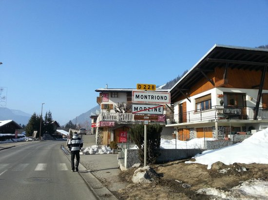 The Ridge Hotel :                   Just on the edge of Morzine.