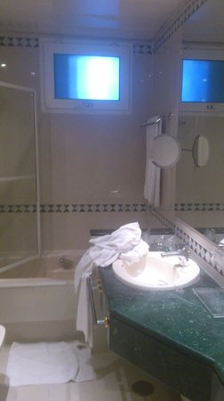 Hotel Santo Domingo Madrid:                                     Simple bathroom