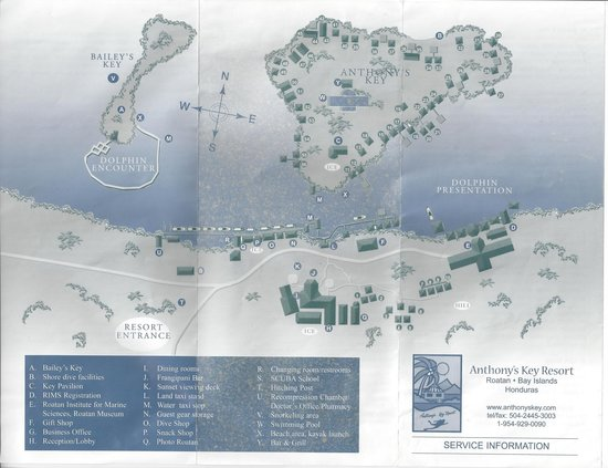 Map of Anthony's key Resort