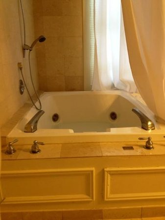 Foley House Inn:                   oversize jacuzzi tub set in marble floor