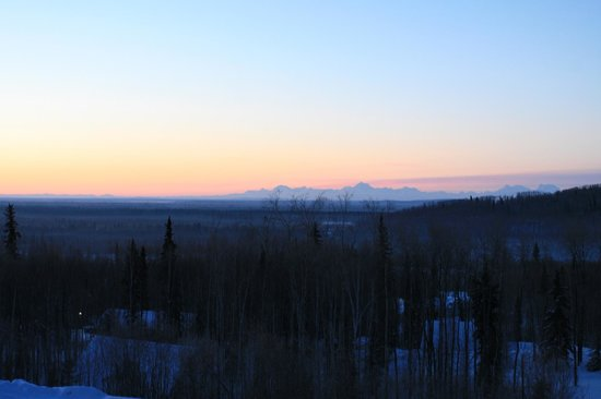 Dale and Jo View Suites:                   Denali in the distance
