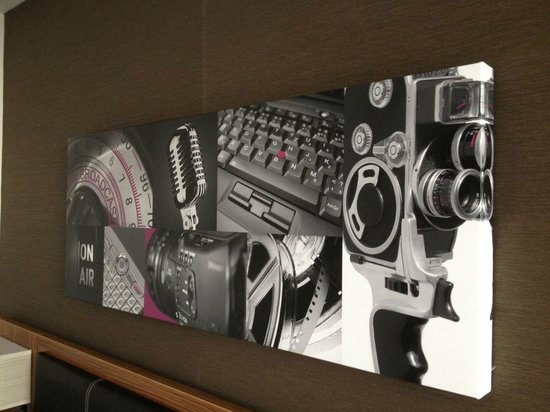 Holiday Inn Manchester MediaCityUK:                   The 'media' decor in my room.