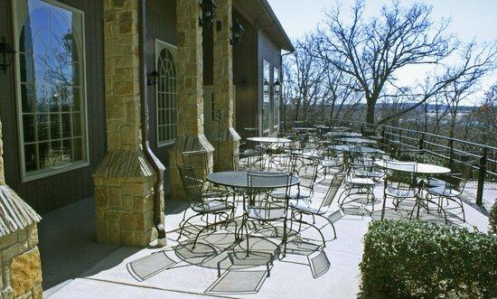 Lantana Resort:                   Patio Outside Restaurant