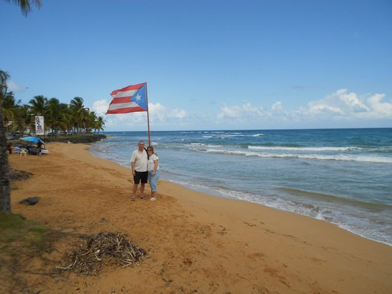 Luquillo Sunrise Beach Inn:                   First day on the beach