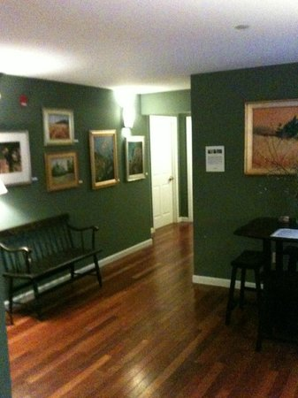 The Brunswick Inn: a common area in the carriage house