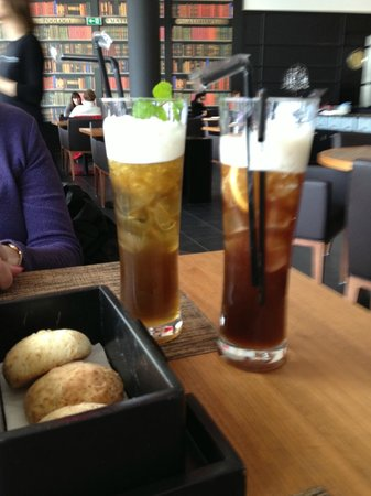 Our iced tea and scones Picture of Darwin s Cafe Lisbon