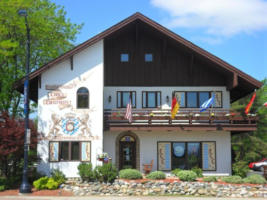 Bavarian Inn Lodge:                                     Frankenmuth clock shop in town