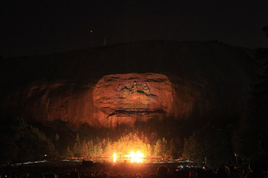 Lasershow Spectacular at Stone Mountain Park :                   Lots of pyrotechnics
