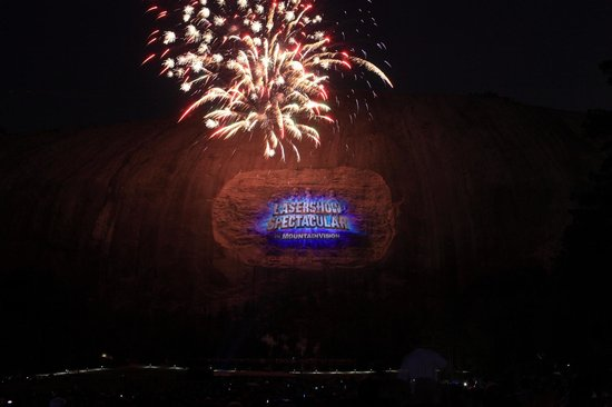Lasershow Spectacular at Stone Mountain Park :                   This was the beginning of the show