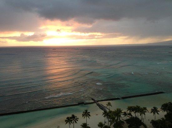 Waikiki Beach Marriott Resort & Spa:                   Sunset from our room
