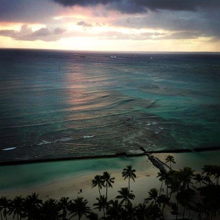 Waikiki Beach Marriott Resort & Spa:                   Sunset from balcony