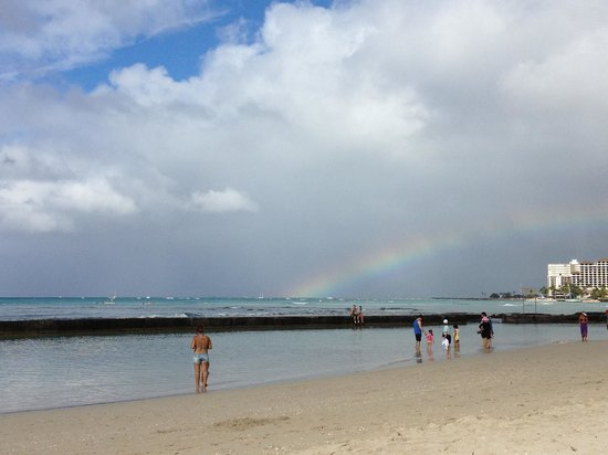 Waikiki Beach Marriott Resort & Spa:                   Rainbow over Waikiki Beach