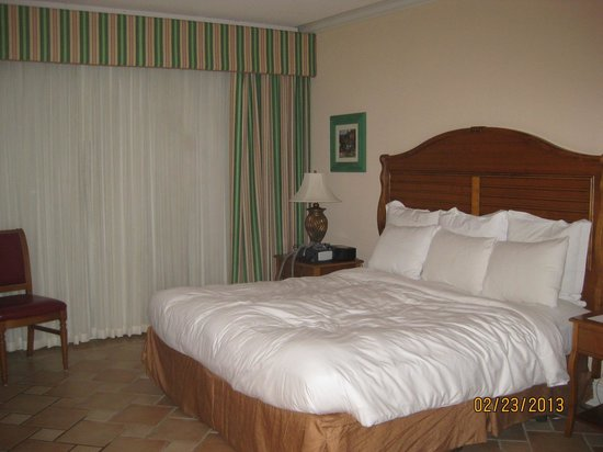 St. Kitts Marriott Resort & The Royal Beach Casino:                                     Basic room with king bed