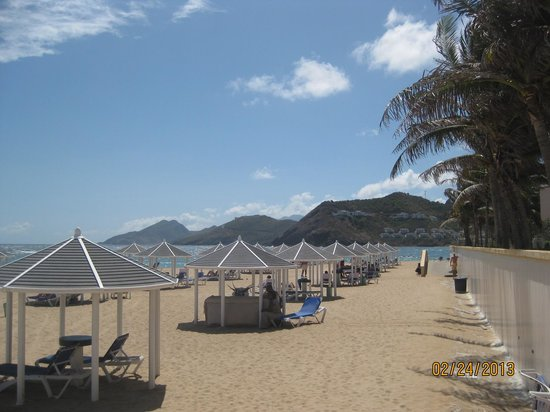 St. Kitts Marriott Resort & The Royal Beach Casino:                                     The beach