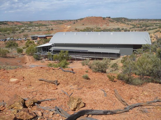 Dinosaur Stampede at Lark Quarry Conservation Park:                   The Lark Quarry Building built over the footprints to preserve prints