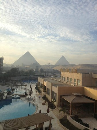 Le Meridien Pyramids Hotel & Spa:                   Amazing view from the room