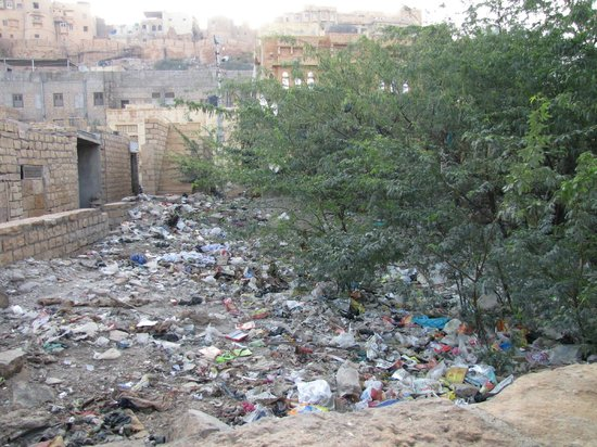 Hotel Shahi Palace:                                     View of rubbish dump from our room