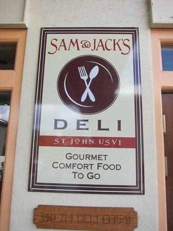 Entrance to Sam & Jack's Deli