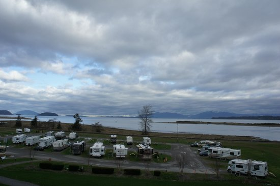 Swinomish Casino & Lodge: View from room 1310 and the RV's