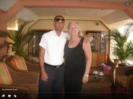 Hotel Club Tropical:                                     Our hotel security guard. What a great guy. Thanks