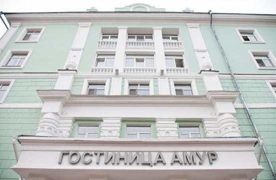 Amur Hotel:                   центральный вход