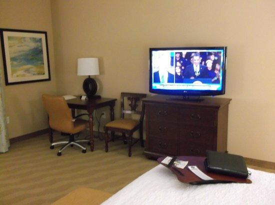 Hampton Inn New Smyrna Beach:                                     Huge TV