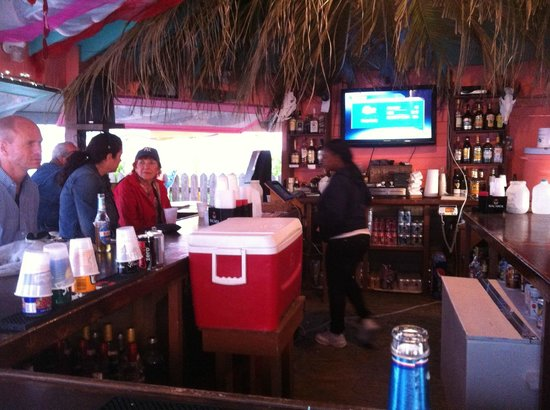 Nippers Beach Bar & Grill:                   at Nipper's bar