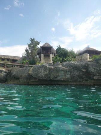 Tensing Pen Resort:                                     Looking back at the hotel from the water
