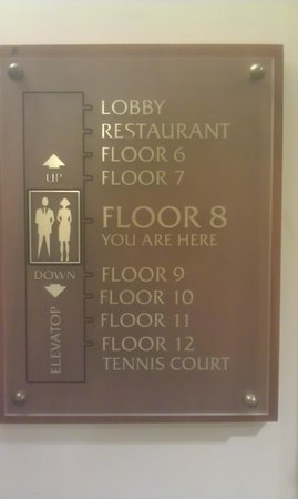 Hilton Trinidad & Conference Centre: Upside down floor numbering