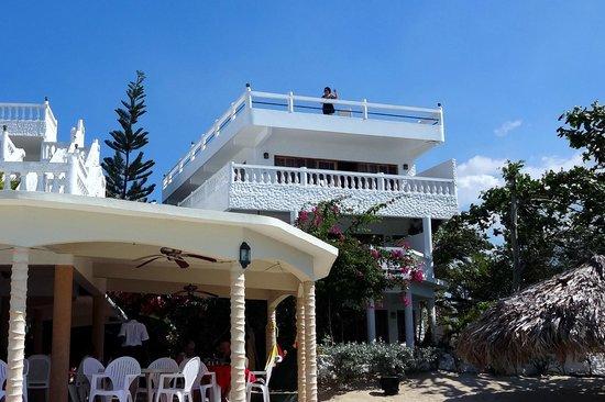 Beach House Villas:                   The penthouse, from the beach