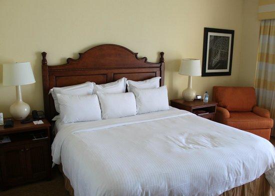 San Juan Marriott Resort & Stellaris Casino:                   Nice King Bed in our room