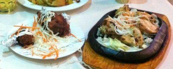 Taj mahal restaurant:                                     Deep Fried Chicken Drumsticks on the left - Very good