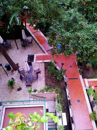 Astoria Garden:                   View of Central Courtyard from Room 306