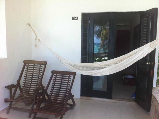 Hotel Cabanas Tulum: Terraza