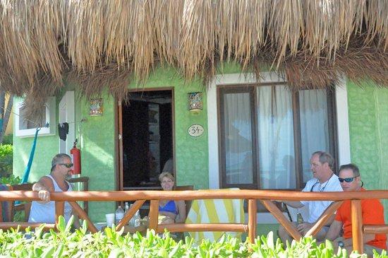 Mahekal Beach Resort:                   Drinks on porch