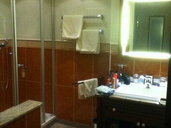 Altstadt Hotel Bräuwirt:                   Bath area