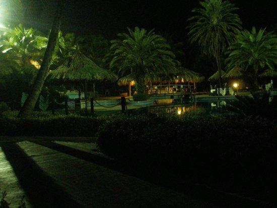 Isla Caribe Beach Hotel: Pileta área Real de noche