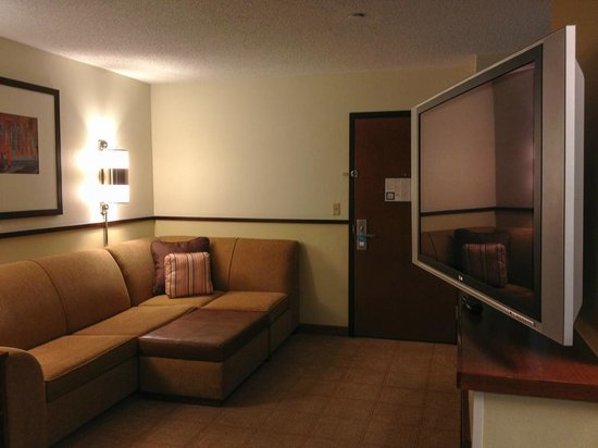 Hyatt Place Denver Airport: very comfortable and spacious sitting area