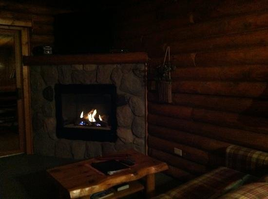 Cedar Lodge & Settlement: gas fireplace