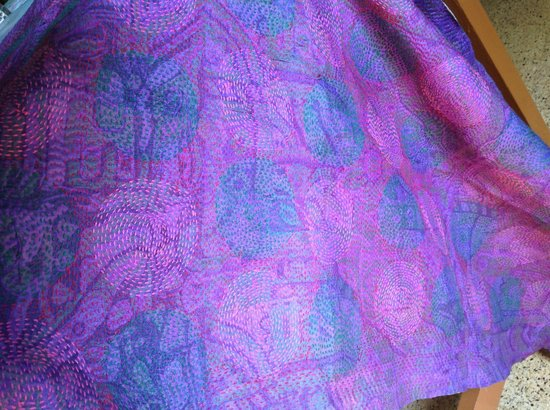 Ganesh Handicrafts :                   Embroidered silk shawl